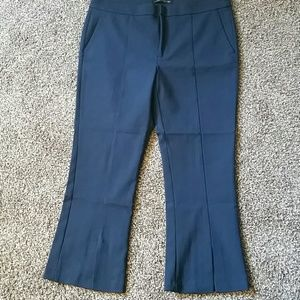 Zara crop kick front slit pant